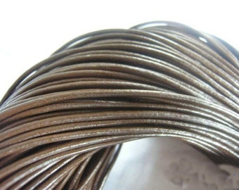 20pcs 2.5mm 16-18 inch adjustable brown genuine/real leather necklace cord