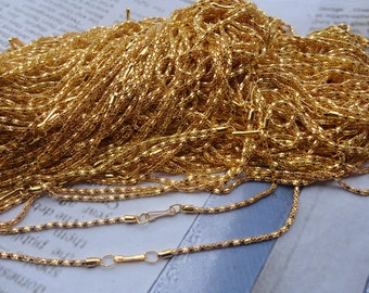 30pcs 2.0mm 17 inch gold plated  chain necklace