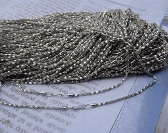 30pcs 2.0mm 17 inch silver gray plated  chain necklace