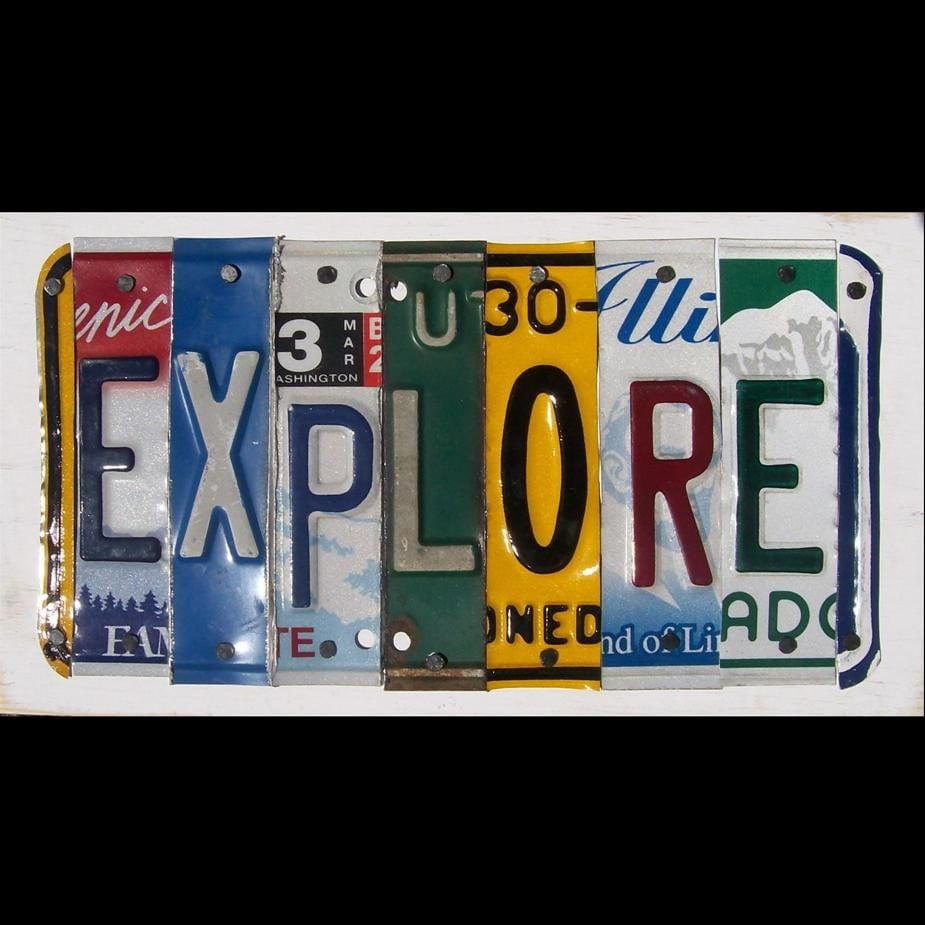 Funky Explore Word Block Custom Words Available Recycled