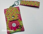 Personalized Hot Pink and Mustard Yellow Phone Case with Wristlet Optional Belt Clip iPhone 4 5 6 Plus Note Large