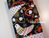 Brown Birds Crochet Hook Case Organizer 18 Pockets Magnetic Snap Closure