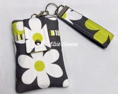 Gray & Yellow Daisy Flowers Phone Case with Wristlet iPhone 4 5 6 Plus Note