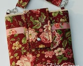 Choose Any Fabric in My Shop Laptop Tablet Sleeve Case or Vintage Roses in Wine Pink or Olive Aqua Red