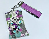 Chelsea Brown, Blue, and Purple Phone Case with Wristlet with Back Zipper Pocket iPhone 4 5 6 Plus Note Large