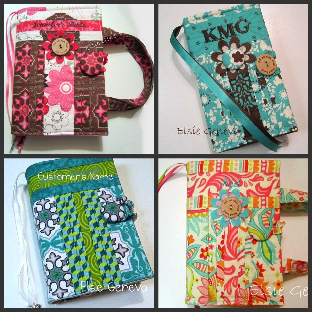 Bible Covers: Made To Fit Bible Cover Personalized Or Monogrammed Option