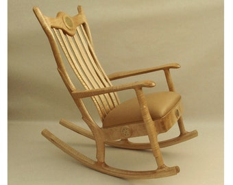 Custom Handmade Upholstered Seat Rocker