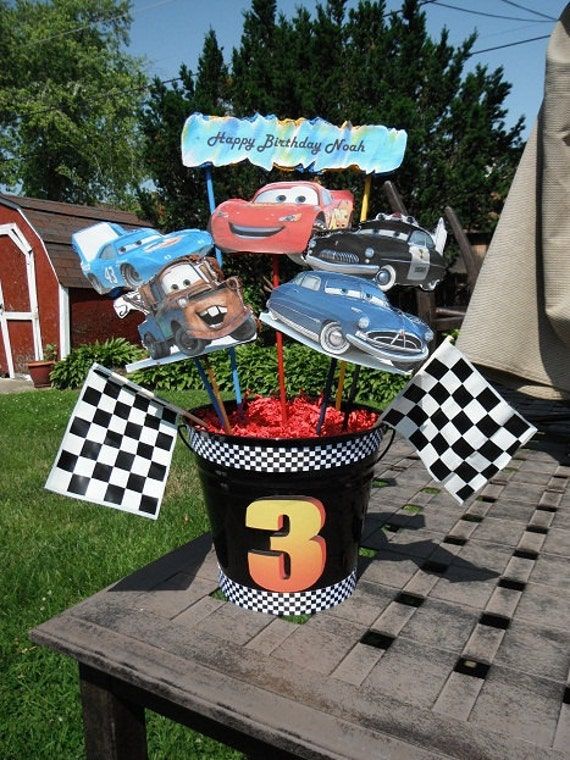 Items Similar To Cars Birthday Party Centerpieces On Etsy