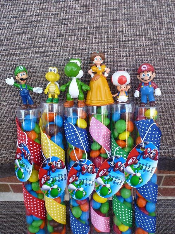 Super Mario Bros Birthday Party Favors By Angilee123 On Etsy