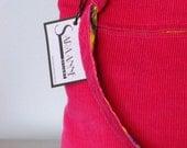 Reversible Pink Corduroy Purse