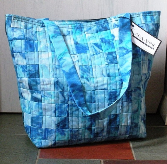 Reserved for jilltownsend1-Blue Woven Totebag