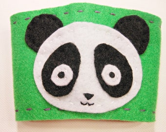 CLEARANCE Panda coffee sleeve