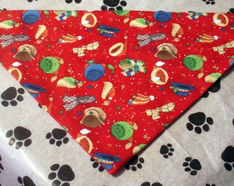 Winter Hats Handmade Dog Bandana Christmas