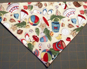 Summer Days Handmade Dog Bandana Summer Beach Nautical