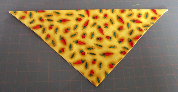 Dog Bandana, Spring, neckerchief, Easter, carrot, pea, garden, yellow