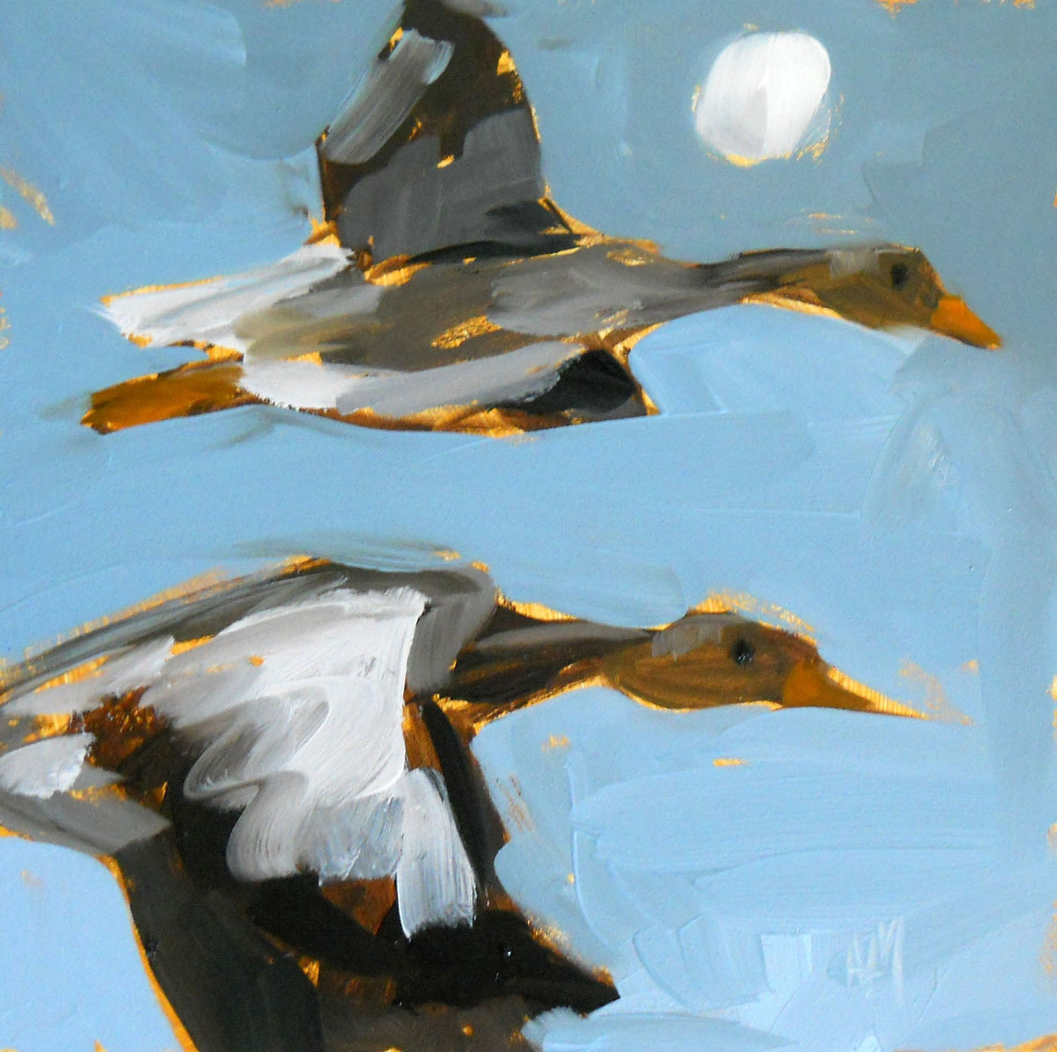 Wild Geese That Fly With The Moon On Their Wings Original