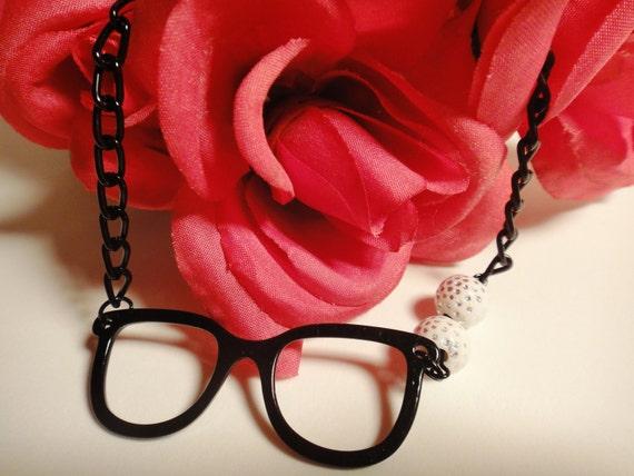 Onyx Eyeglass Necklace