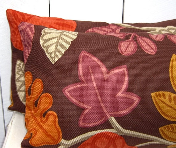 Decorative Throw Pillow Covers Fall Colors Designer by EastLemon