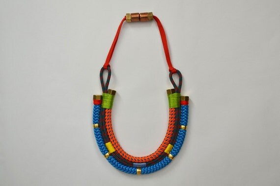 Brightly Bold Rope Collar Necklace