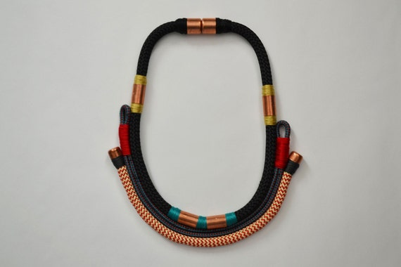 Tribal Rope Collar Necklace