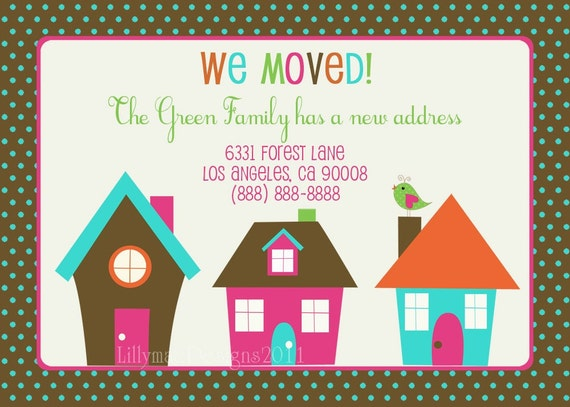 Moving Announcement - We Moved - Custom digital file