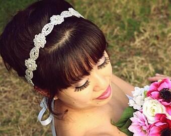 Rhinestone Headband Sash/Dress Belt-Dominque