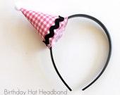 Birthday Hat Headband