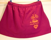 Graphic Cycling Skort- Bike IQ - large