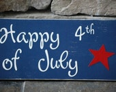 Liberty Blue Happy 4th of July sign...ready to ship today