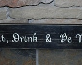Eat, Drink & Be Merry sign for home family kitchen birthday gift decor