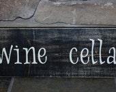 wine cellar rustic sign wine time man room birthday gift