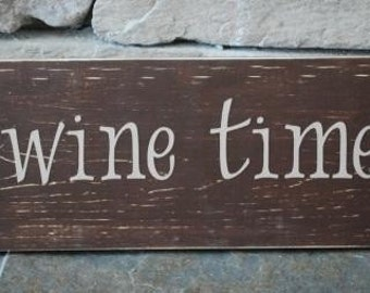 wine time sign