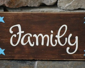 Family sign custom, many colors available