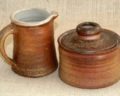 Wood Fired Sugar and Creamer Set
