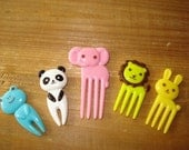 Cute Animal Cupcake Picks - Bento Picks - 10 pcs