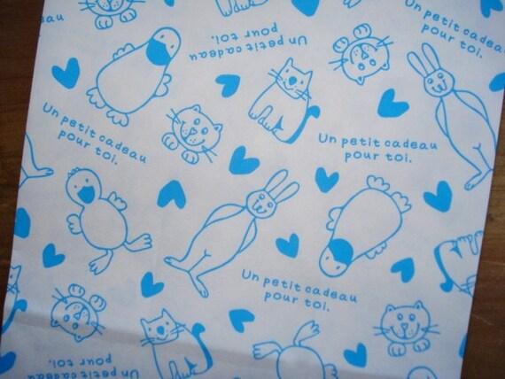 Cute Animal Gift Bag - Paper Favor Bag - Set of 8