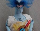 Mr Bobinsky Primitive folk art doll Handmade