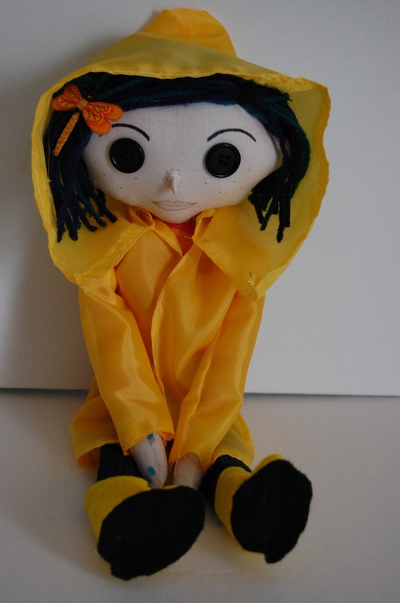 Coraline Button Eye Doll Inspired by one of my favorite literary figures - Coraline Jones