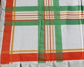 Beautiful Square Orange, Yellow and Green Tablecloth