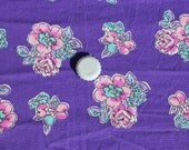 Bright Purple Feedsack with Roses and Flowers M