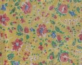 Vintage Yellow Floral Feedsack M