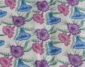 Blue and Purple Floral Feedsack M