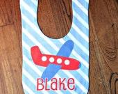 Personalized Airplane Baby Bib