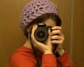 Reserved Listing for Laura -- Light Violet Gamine Hat