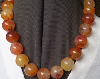 Vintage Marble Bead Necklace Super Retro