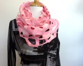 Pink Wool Scarf - Felted Wool Scarf - Hand Made Winter Scarf - Australia