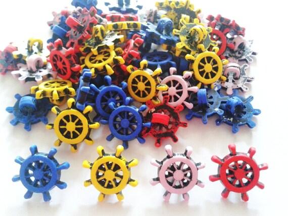 30 pcs Cute Sailor shank  button size 15 mm