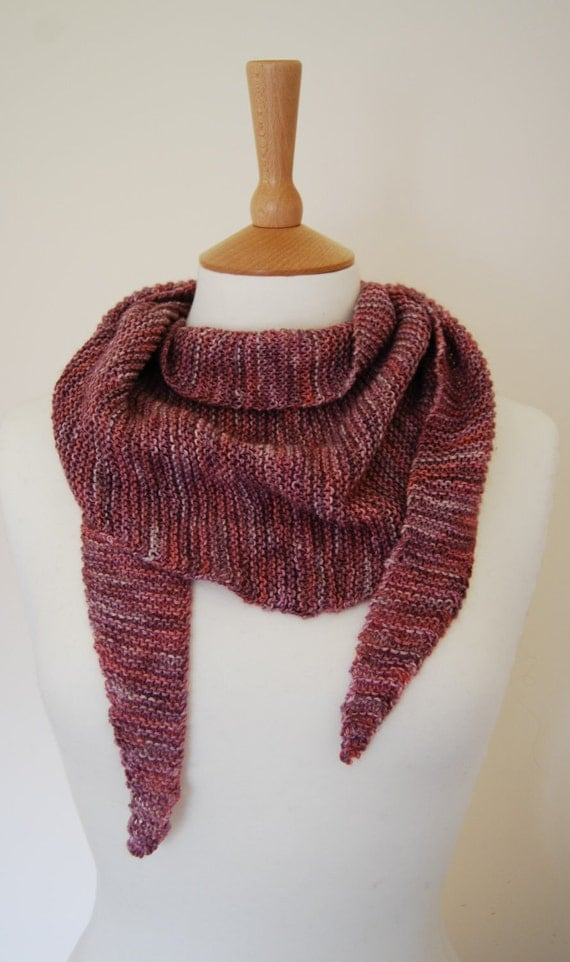 Lovely pink alpaca cotton scarf
