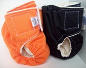 Black Organic Cotton Pocket Diaper Size small