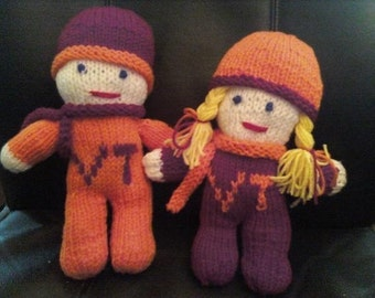Knitted Hokie Doll